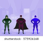strong men in costumes protect... | Shutterstock .eps vector #575926168