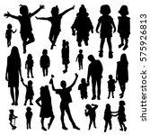 children silhouettes | Shutterstock .eps vector #575926813