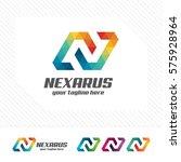colorful letter n logo design... | Shutterstock .eps vector #575928964