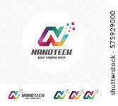 colorful letter n logo design... | Shutterstock .eps vector #575929000