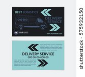 2 sided business card delivery... | Shutterstock .eps vector #575932150