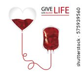 give life. donate blood concept. | Shutterstock .eps vector #575939560