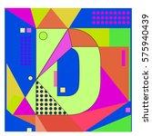 vector brochure design with... | Shutterstock .eps vector #575940439