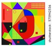 vector brochure design with... | Shutterstock .eps vector #575942536