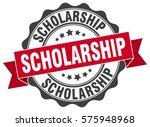 scholarship. stamp. sticker.... | Shutterstock .eps vector #575948968
