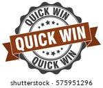 quick win. stamp. sticker. seal.... | Shutterstock .eps vector #575951296