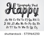 vector of abstract glossy font... | Shutterstock .eps vector #575964250