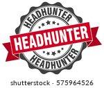headhunter. stamp. sticker.... | Shutterstock .eps vector #575964526