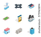 urban infrastructure icons set. ... | Shutterstock .eps vector #575965894
