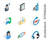 all day customer support icons... | Shutterstock .eps vector #575966104