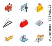 electronic commerce icons set.... | Shutterstock .eps vector #575966128