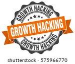growth hacking. stamp. sticker. ... | Shutterstock .eps vector #575966770