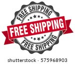 free shipping. stamp. sticker.... | Shutterstock .eps vector #575968903
