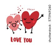 heart character valentine lover | Shutterstock .eps vector #575969260