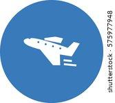 travel icon. aircraft vector. | Shutterstock .eps vector #575977948