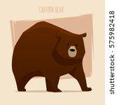 brown bear. cartoon character.... | Shutterstock .eps vector #575982418