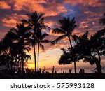 beautiful sunset sky with the... | Shutterstock . vector #575993128