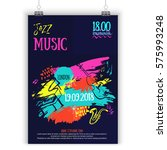 jazz music poster  ticket or... | Shutterstock .eps vector #575993248