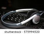 earphone keyboard black | Shutterstock . vector #575994520