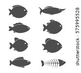 set of vector fish icons | Shutterstock .eps vector #575995528