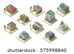 vector isometric buildings set. ... | Shutterstock .eps vector #575998840