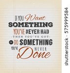 inspirational quote on vintage... | Shutterstock .eps vector #575999584