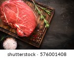 raw meat. a large piece of beef ... | Shutterstock . vector #576001408