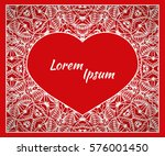 holiday  postcard  frame for... | Shutterstock .eps vector #576001450