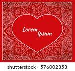holiday  postcard  frame for... | Shutterstock .eps vector #576002353