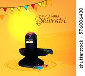 happy shivratri  vector... | Shutterstock .eps vector #576006430