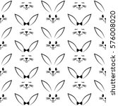 seamless pattern with easter... | Shutterstock .eps vector #576008020