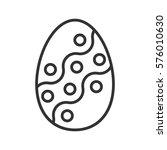 easter egg linear icon. thin... | Shutterstock .eps vector #576010630