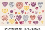 knitted heart  crafts... | Shutterstock .eps vector #576012526