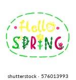 hello spring   Shutterstock . vector #576013993