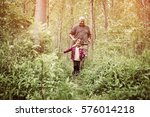 grandfather and granddaughter...   Shutterstock . vector #576014218