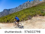 Biker On Table Mountain Cape...