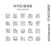 set line icons of hygiene | Shutterstock .eps vector #576023800