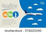 tourism  travel agency poster.... | Shutterstock .eps vector #576025240
