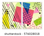 colorful neo memphis business... | Shutterstock .eps vector #576028018