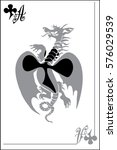 picture card ace of clubs | Shutterstock .eps vector #576029539