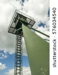 Small photo of Iron curtain metal green watch tower