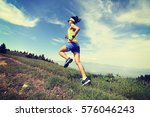 healthy lifestyle woman trail... | Shutterstock . vector #576046243