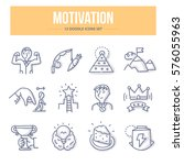 doodle vector line icons of... | Shutterstock .eps vector #576055963