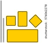 yellow road signs set | Shutterstock .eps vector #576062278