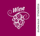 bunch of grapes for wine logo | Shutterstock .eps vector #576063316