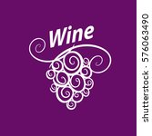 bunch of grapes for wine logo | Shutterstock .eps vector #576063490