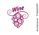bunch of grapes for wine logo | Shutterstock .eps vector #576063499