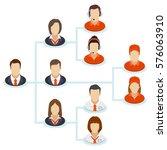teamwork flow chart. corporate... | Shutterstock .eps vector #576063910