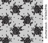Seamless Black Vector Lace...