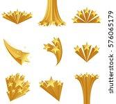 golden stars set. stars burst.... | Shutterstock .eps vector #576065179